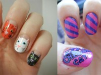 Easy-Cat-Face-Nail-Art-Designs-Ideas-2013-2014