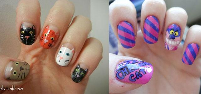 Easy-Cat-Face-Nail-Art-Designs-Ideas-2013-2014