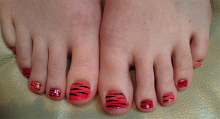 Easy Zoo Farm Animal Toe Nail Art Designs