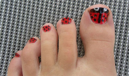 Easy-Zoo-Farm-Animal-Toe-Nail-Art-Designs-Ideas-2013-2014-10