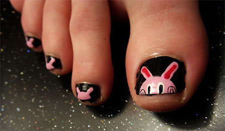 Easy-Zoo-Farm-Animal-Toe-Nail-Art-Designs-Ideas-2013-2014-8