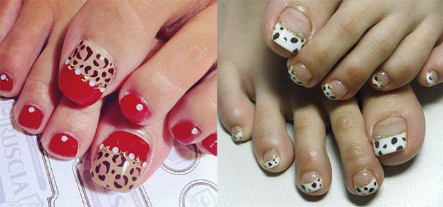easy zoo farm animal toe nail art designs ideas 2014 2015