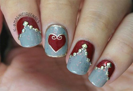 Elegant-Heart-Nail-Art-Designs-Ideas-For-Valentines-Day-2014-7