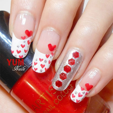 93 Do It Yourself Nail Designs For Valentines Day Adorable