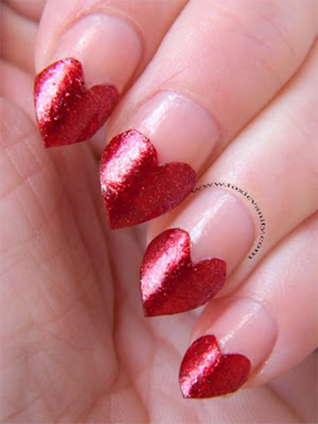 Heart-Nail-Designs-Ideas-For-Valentines-Day-2014- - Heart Nail Designs & Ideas For Valentine's Day 2014 Fabulous Nail