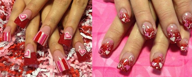 Valentine s day designs for short nails best nails 2018 valentine s day 2016 fabulous nail art designs part 2 prinsesfo Gallery