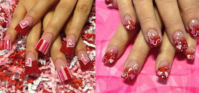Inspiring Nail Art Designs Amp Ideas For Valentine S Day 2014 Heart Nails Fabulous Nail Art