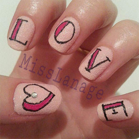 Love-Nail-Art-Designs-Ideas-2014-Valentines-Nails-4