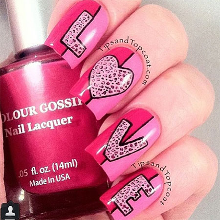 Love-Nail-Art-Designs-Ideas-2014-Valentines-Nails-7