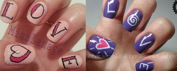 Love nail art ideas fabulous nail art designs love nail art designs ideas 2014 valentines nails prinsesfo Choice Image