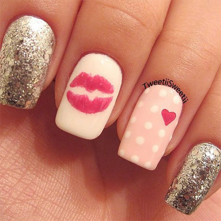 Love-Nail-Art-Designs-Ideas-For-Valentines-Day- - Love Nail Art Designs & Ideas For Valentine's Day 2014 Heart