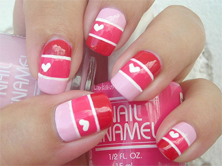 Love Nail Art - Love Nail Art Designs & Ideas For Valentine's Day 2014 Heart Nails