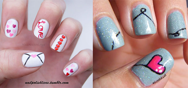 Love Nail Art Designs & Ideas For Valentine's Day 2014 | Heart Nails |  Fabulous Nail Art Designs - Love Nail Art Designs & Ideas For Valentine's Day 2014 Heart Nails