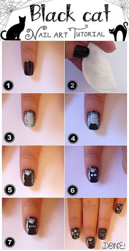 Simple-Easy-Cat-Nail-Art-Tutorials-2014-2015-For-Beginners-Learners-2