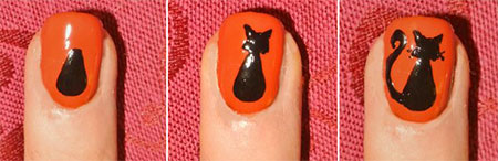 Simple-Easy-Cat-Nail-Art-Tutorials-2014-2015-For-Beginners-Learners-7