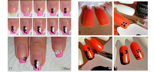Simple-Easy-Cat-Nail-Art-Tutorials-2014-2015-For-Beginners-Learners-F