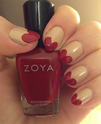 Simple-Heart-Tip-Nail-Art-Designs-Ideas-For-Valentines-Day-2014-11