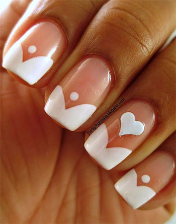 Simple heart tip nail art designs ideas for valentines day 2014 simple heart tip nail art designs ideas for prinsesfo Gallery
