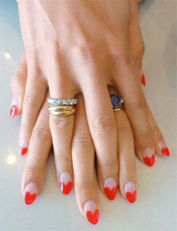 Simple-Heart-Tip-Nail-Art-Designs-Ideas-For-Valentines-Day-2014-13