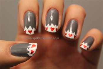 Simple-Heart-Tip-Nail-Art-Designs-Ideas-For-Valentines-Day-2014-2