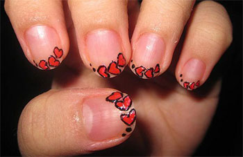 Simple-Heart-Tip-Nail-Art-Designs-Ideas-For-Valentines-Day-2014-3