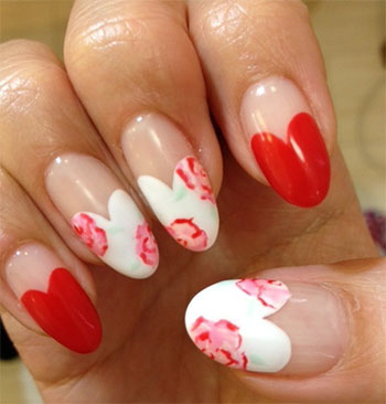 Simple-Heart-Tip-Nail-Art-Designs-Ideas-For-Valentines-Day-2014-5