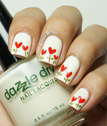 Simple-Heart-Tip-Nail-Art-Designs-Ideas-For-Valentines-Day-2014-9