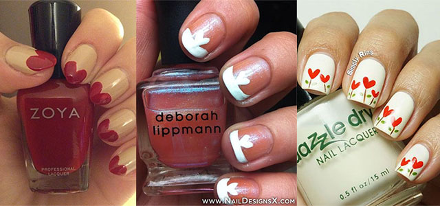 Simple-Heart-Tip-Nail-Art-Designs-Ideas-For-Valentines-Day-2014