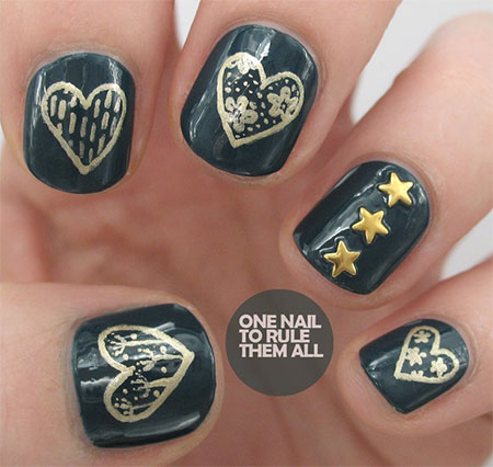 Simple-Nail-Art-Designs-Ideas-For-Valentines-Day-2014-Heart-Nails-1