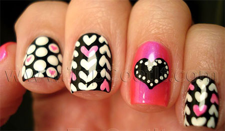 Simple-Nail-Art-Designs-Ideas-For-Valentines-Day-2014-Heart-Nails-11