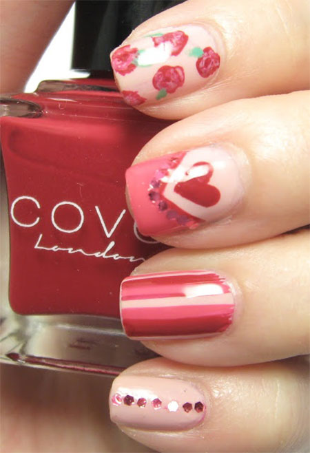 Simple-Nail-Art-Designs-Ideas-For-Valentines-Day-2014-Heart-Nails-12