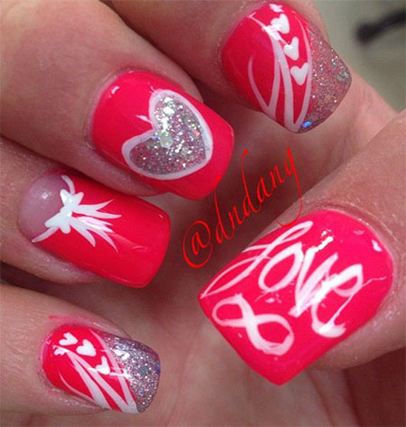 Simple-Nail-Art-Designs-Ideas-For-Valentines-Day-2014-Heart-Nails-3