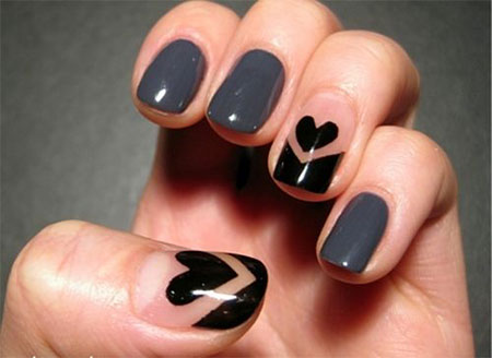 Simple Nail Art Designs Ideas For Valentines Day 2014 Heart
