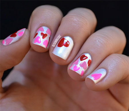 Simple-Nail-Art-Designs-Ideas-For-Valentines-Day-2014-Heart-Nails-5