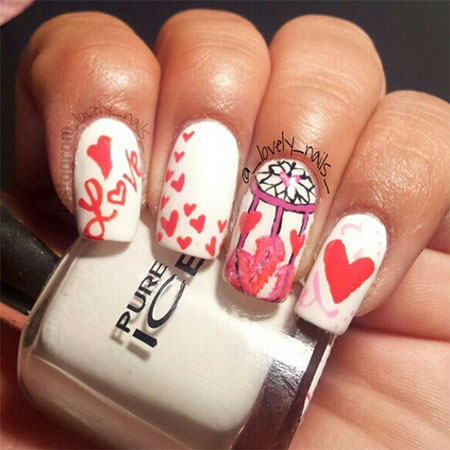Simple-Nail-Art-Designs-Ideas-For-Valentines-Day-2014-Heart-Nails-8