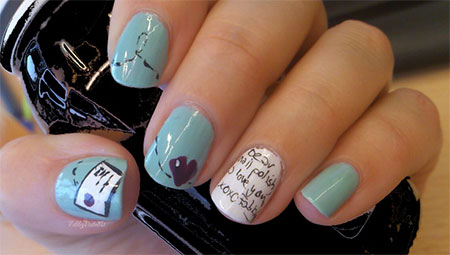 Simple-Valentines-Day-Nail-Art-Designs-Ideas-For-Beginners-2014-Heart-Nails-1
