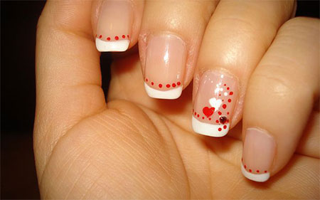 Simple Valentines Day Nail Art Designs Ideas For Beginners 2014