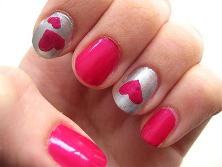 Simple-Valentines-Day-Nail-Art-Designs-Ideas-For-Beginners-2014-Heart-Nails-2