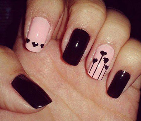 Simple-Valentines-Day-Nail-Art-Designs-Ideas-For-Beginners-2014-Heart-Nails-3