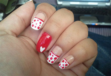 Simple-Valentines-Day-Nail-Art-Designs-Ideas-For-Beginners-2014-Heart-Nails-4