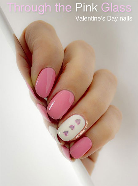 Simple-Valentines-Day-Nail-Art-Designs-Ideas-For-Beginners-2014-Heart-Nails-5
