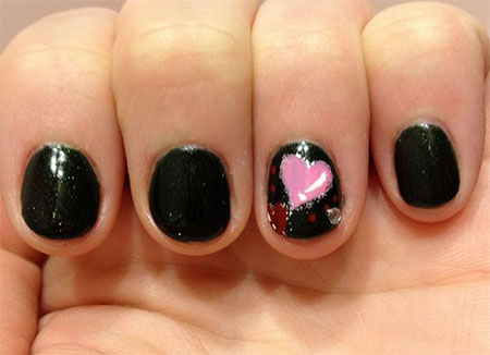 Simple-Valentines-Day-Nail-Art-Designs-Ideas-For-Beginners-2014-Heart-Nails-9