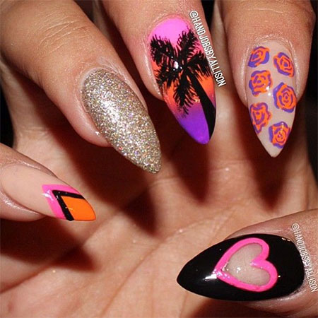 Stunning pointy heart nail art designs ideas for valentines day stunning pointy heart nail art designs ideas for prinsesfo Choice Image