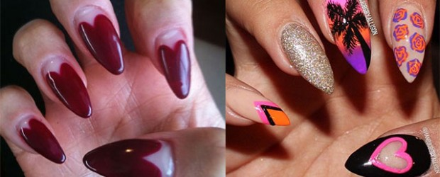 Stunning-Pointy-Heart-Nail-Art-Designs-Ideas-For-Valentines-Day-2014