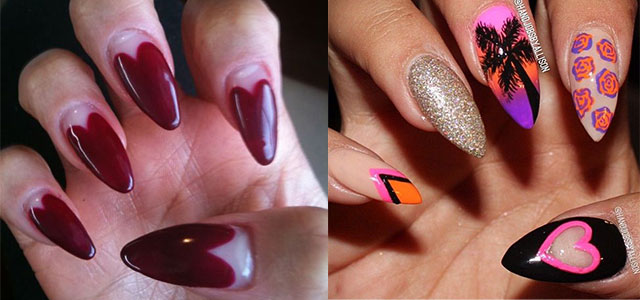 valentines nail art stunning pointy nail designs amp ideas for 31578