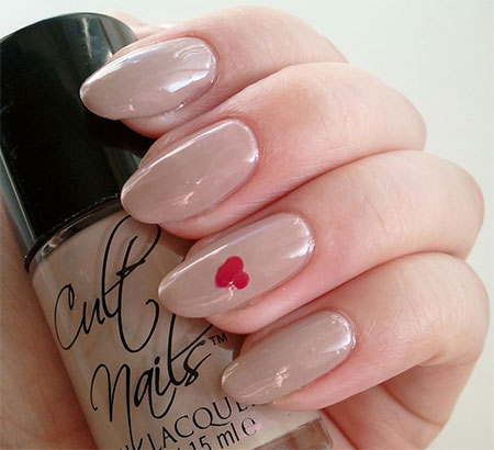 Very-Simple-Easy Valentines-Day-Nail-Art-Designs-Ideas-For-Learners-2014-2