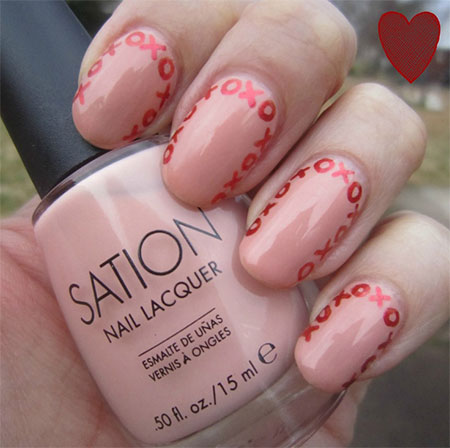 Very-Simple-Easy-Valentines-Day-Nail-Art-Designs-Ideas-For-Learners-2014-4