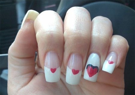 Very-Simple-Easy-Valentines-Day-Nail-Art-Designs-Ideas-For-Learners-2014-5