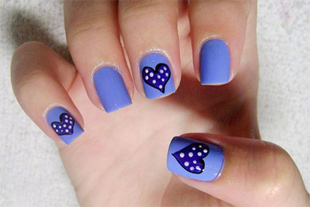 Very-Simple-Easy-Valentines-Day-Nail-Art-Designs-Ideas-For-Learners-2014-6