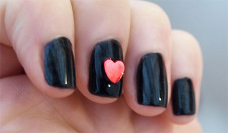 Very-Simple-Easy-Valentines-Day-Nail-Art-Designs-Ideas-For-Learners-2014-7
